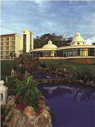 Resort´s beautiful gardens and cascade